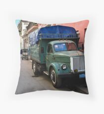 Streets Of Havana Throw Pillow
