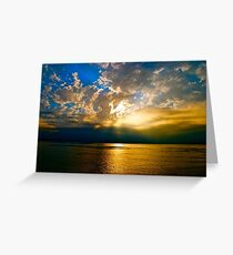 Pacific Sunset - San Diego Greeting Card