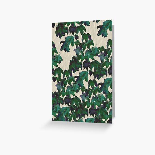 Bluegreen leaf wall Greeting Card