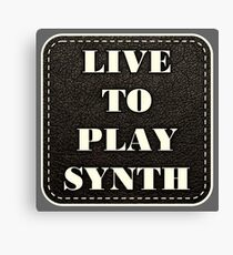 Live to play synth Canvas Print