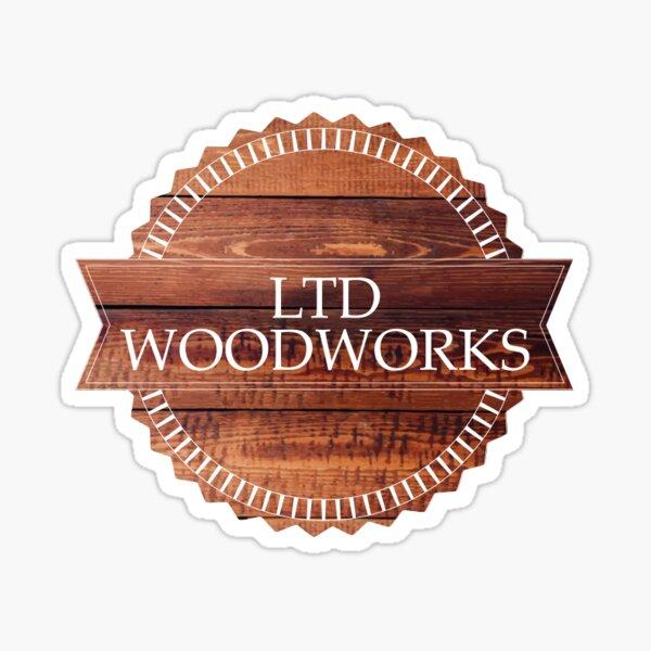 """WOODWORKING Street Sign Decal carpenter carver cabinetmaker wood builder 18/"""""""