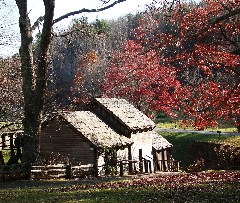 Mabry Mill in the Fall~ by virginian