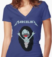Metal Marcy Women's Fitted V-Neck T-Shirt