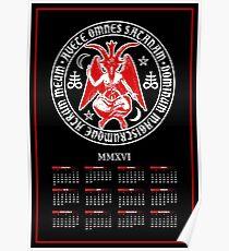 2016 Satanic Baphomet Calendar Poster