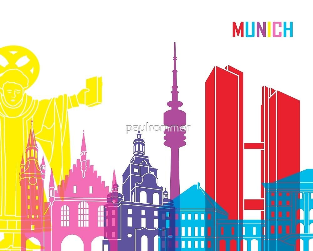 Munich skyline pop by paulrommer