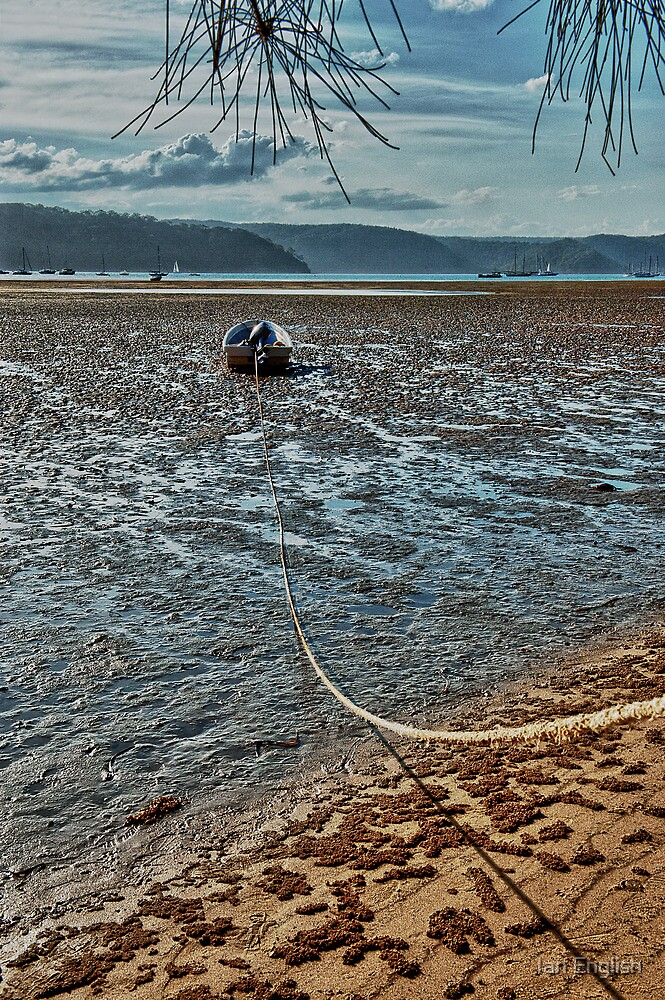 Low Tide at Pittwater NSW by Ian English