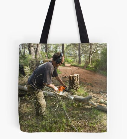 Chainsawing Tote Bag