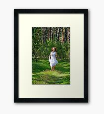 Active relaxation in the wood Framed Print
