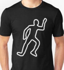 Dead body chalk outline Unisex T-Shirt
