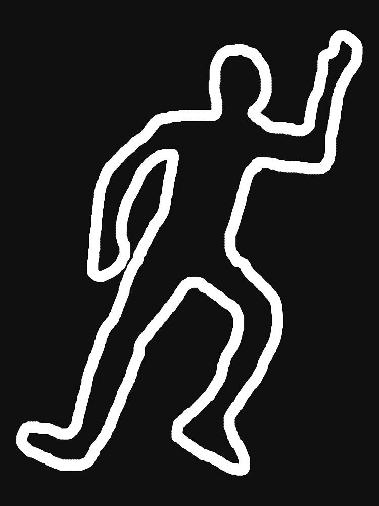 Dead Body Chalk Outline By Benjy