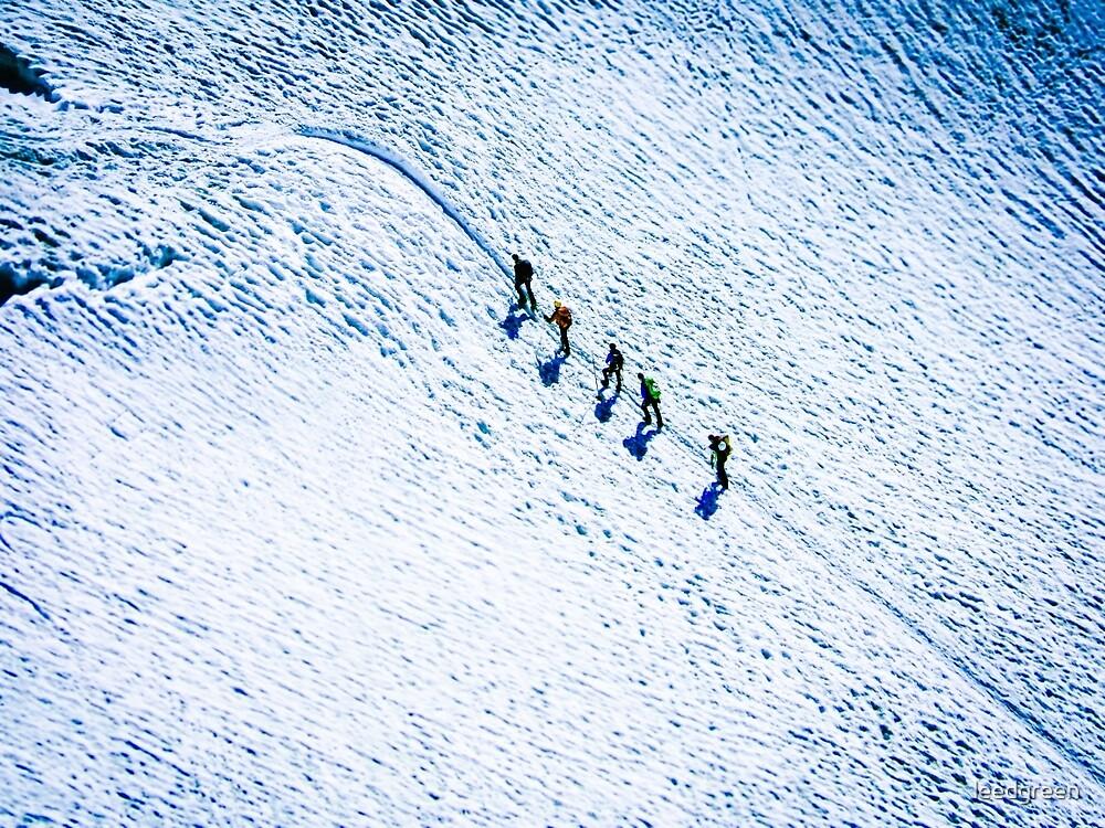 Climbing Mont Blanc - France by leedgreen