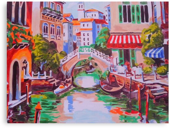 Venice -oil painting on canvas backdrop by Shobhit02