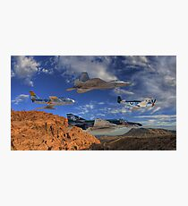 Four Generations of U.S. Air Force Fighter Aircraft Photographic Print