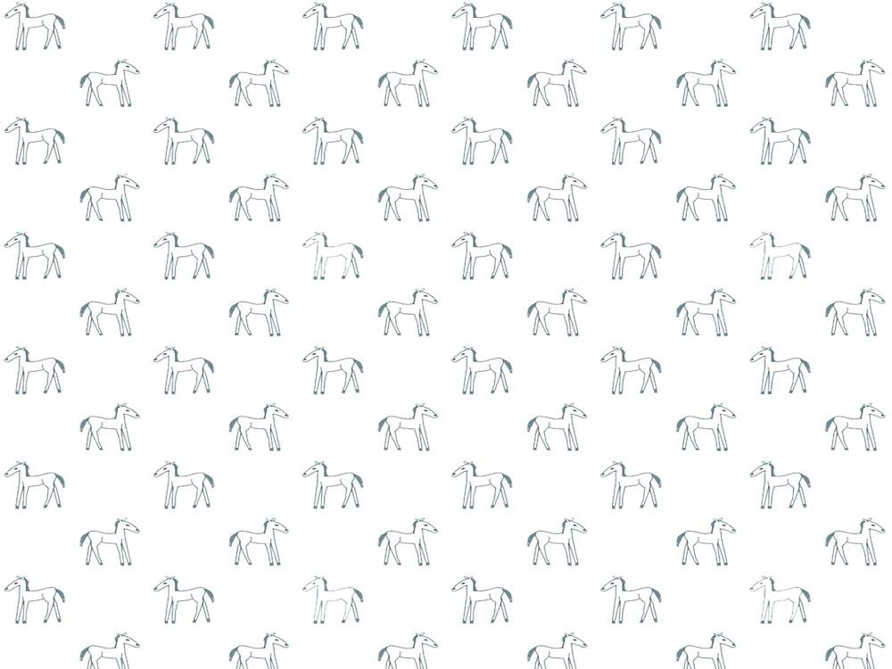 Little white ponies by JasmineDickson