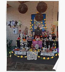 Altar for the dead persons at All Souls' Day Poster