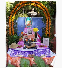 Another altar in a little hotel in Puerto Vallarta - All Souls' day Poster