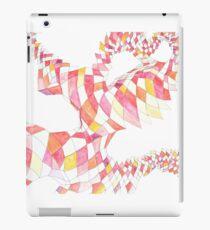Geometric landscape red drawing iPad Case/Skin