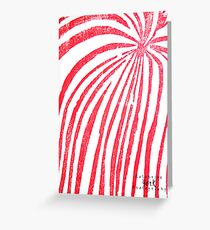 Red Stripped Lady- Printmaking Greeting Card