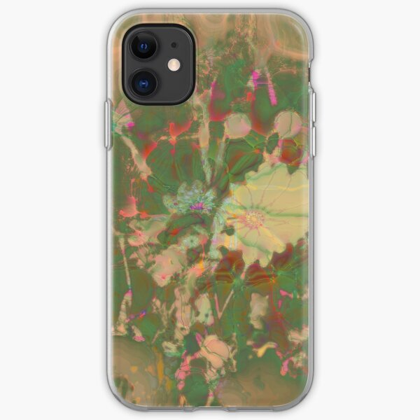 Fractalized floral abstraction iPhone Soft Case