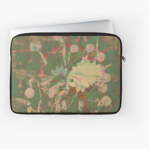 Fractalized floral abstraction Laptop Sleeve