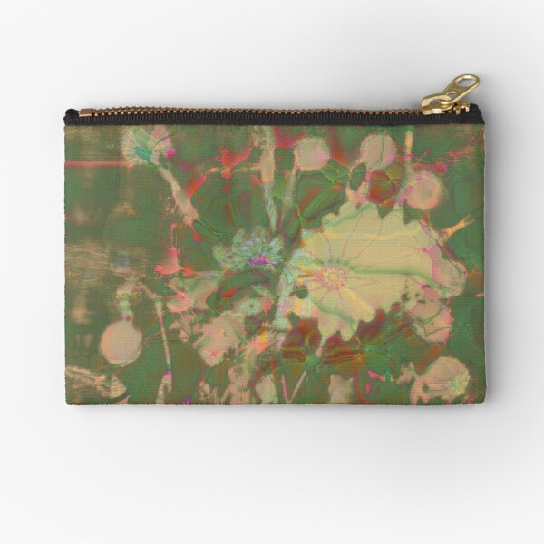 Fractalized floral abstraction Zipper Pouch