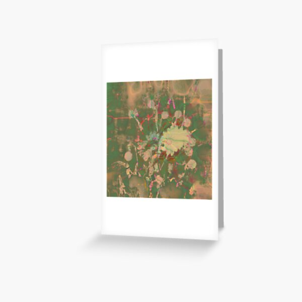 Fractalized floral abstraction Greeting Card