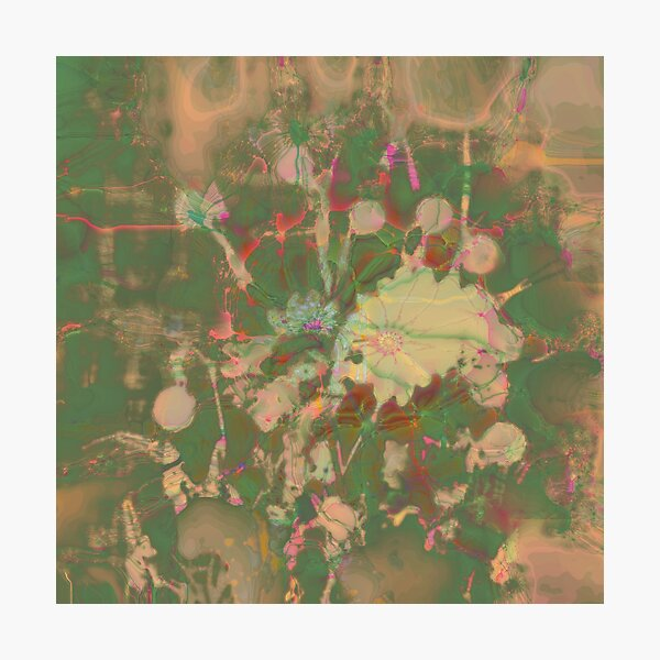 Fractalized floral abstraction Photographic Print