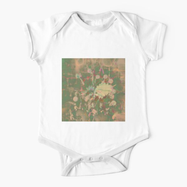 Fractalized floral abstraction Short Sleeve Baby One-Piece