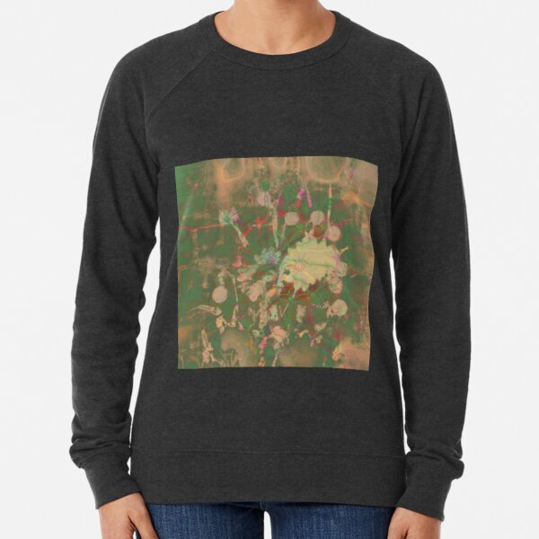 Fractalized floral abstraction Lightweight Sweatshirt
