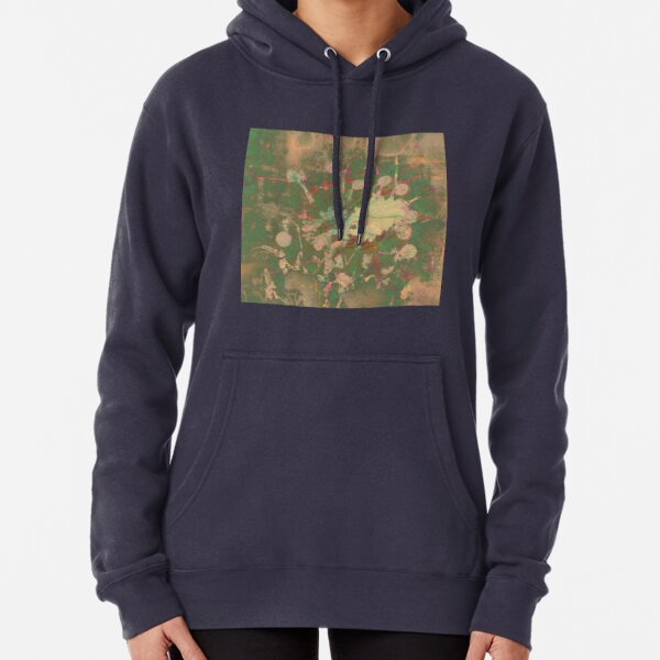 Fractalized floral abstraction Pullover Hoodie