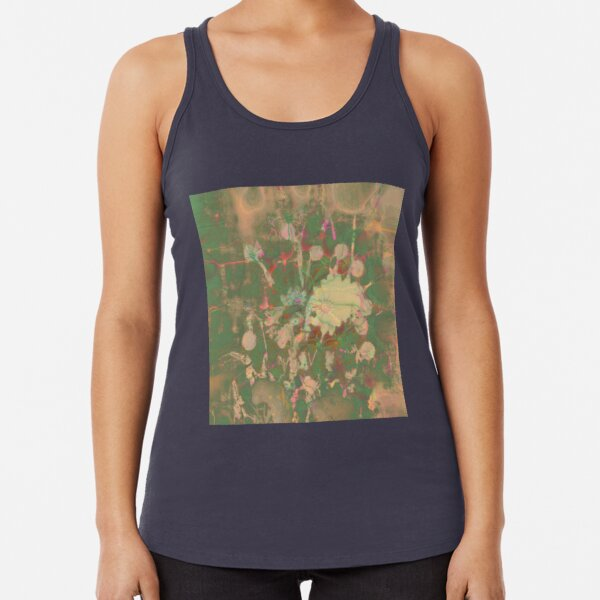 Fractalized floral abstraction Racerback Tank Top