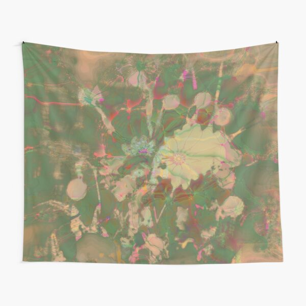 Fractalized floral abstraction Tapestry