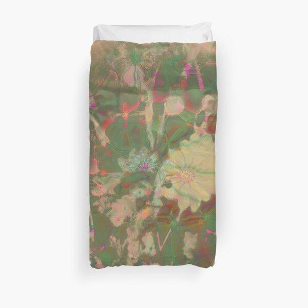 Fractalized floral abstraction Duvet Cover