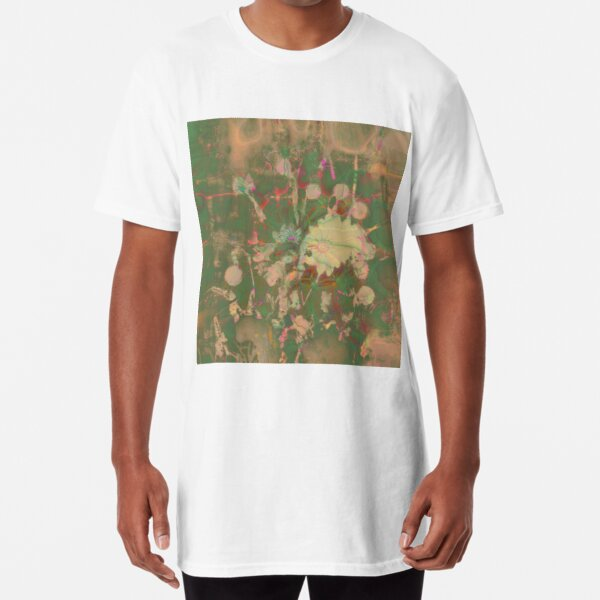 Fractalized floral abstraction Long T-Shirt