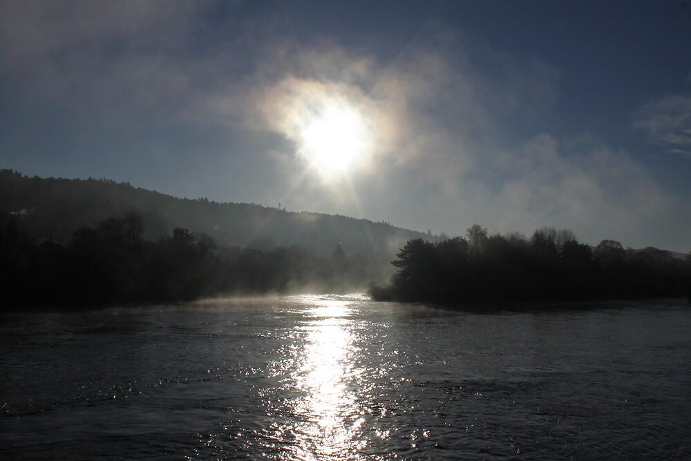 Autumn #1 - Scottish river by erwina
