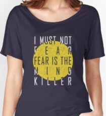 Dune - The Litany Against Fear (White) Women's Relaxed Fit T-Shirt
