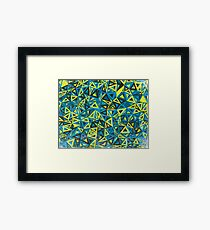Cool Abstract Print - Geometry Pattern Framed Print