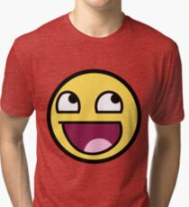 Awesome Face Epic Smiley Tri-blend T-Shirt