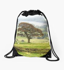Tree, Autumn Drawstring Bag