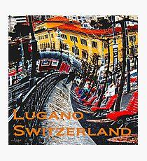 Wacky Lugano, Switzerland Photographic Print