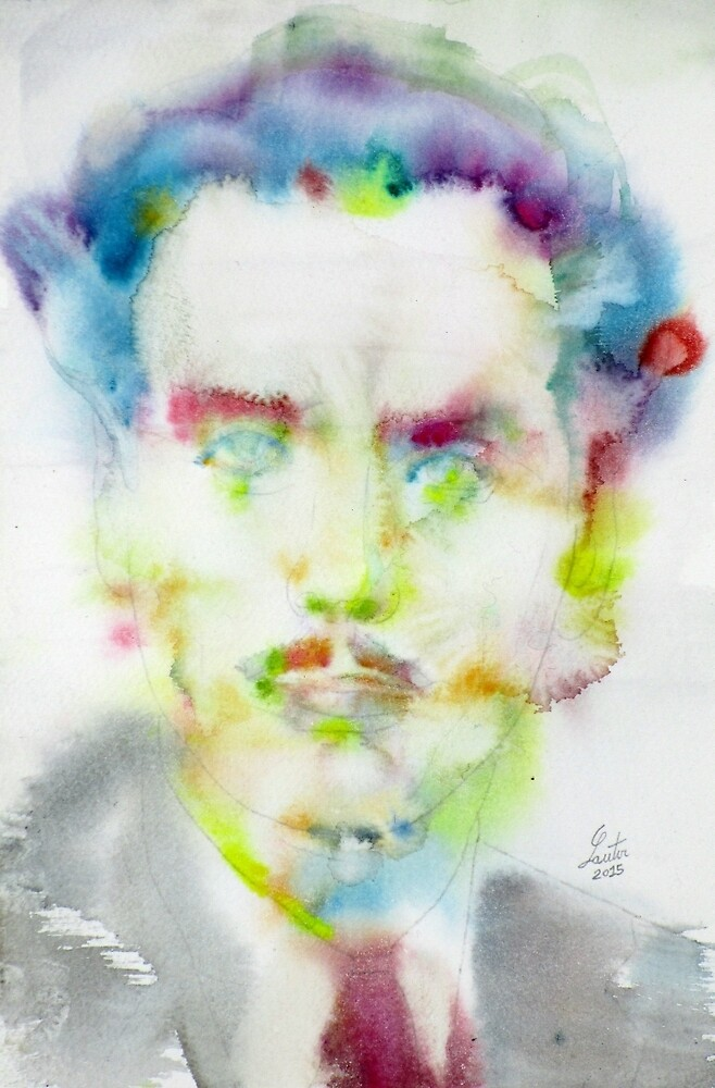 MARSHALL MCLUHAN - watercolor portrait by lautir