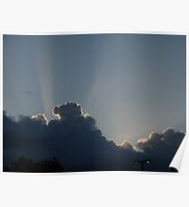 Maalaea Sunset Clouds Poster