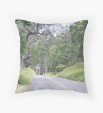 Upcountry Road Throw Pillow