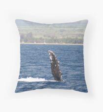Humpback Whale Pec Fin Throw Pillow