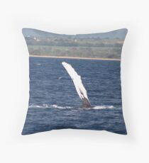 Humpback Whale Pec Underside Throw Pillow