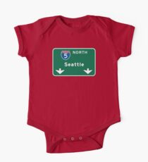 Seattle, WA Road Sign Kids Clothes
