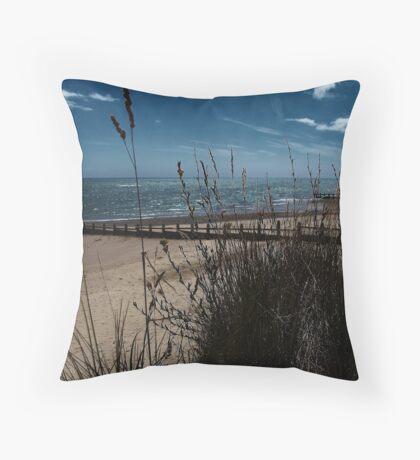 Grass & Groynes Throw Pillow