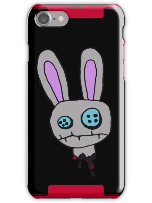Bunny iPhone Case by Monsterkidd
