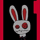 Bunny (Evil Version) iPhone Case by Monsterkidd