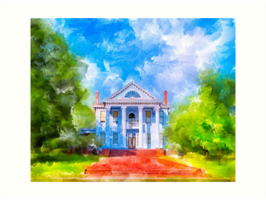 Classic Old Southern Neoclassical Style Mansion by Mark Tisdale